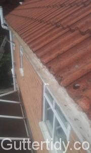 gutter above conservatory cleared