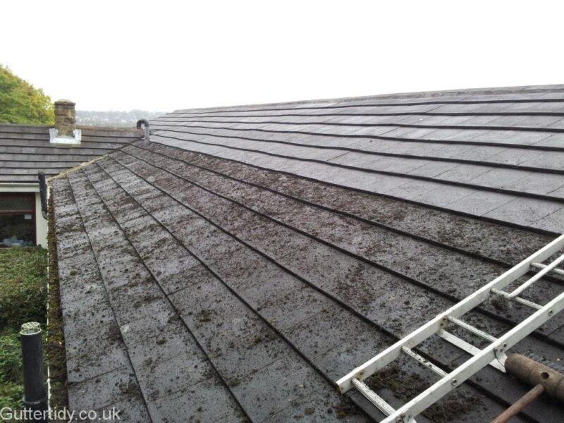 Top part of roof cleared
